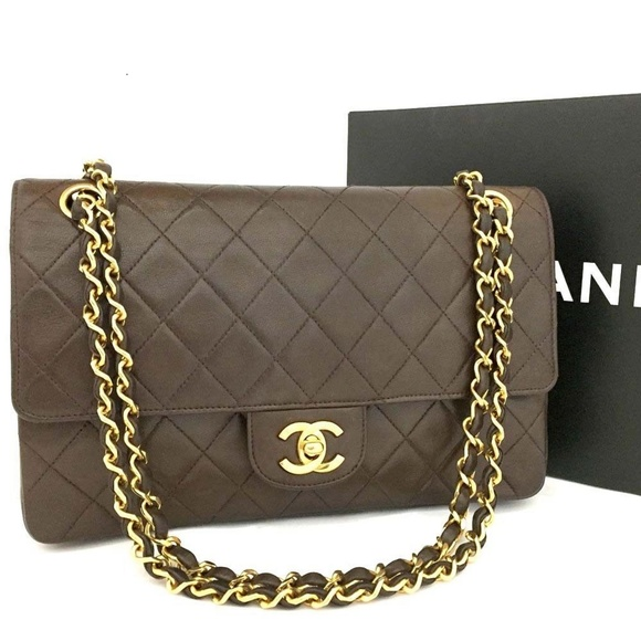 52a81c123e6afe Chanel Handbags - 100% Auth Vintage CHANEL Double Flap 25 Quilted